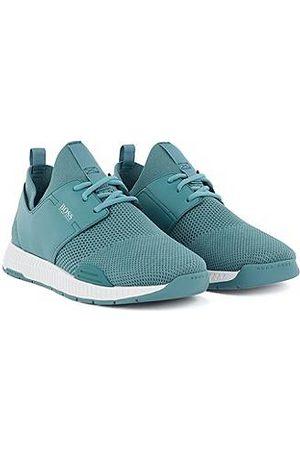BOSS Sneakers - Unisex-Sneakers aus Stretch-Strick mit Ledereinsätzen