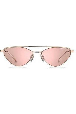 HUGO BOSS Sonnenbrille mit violetten Gläsern und Aussparungen an den Bügeln
