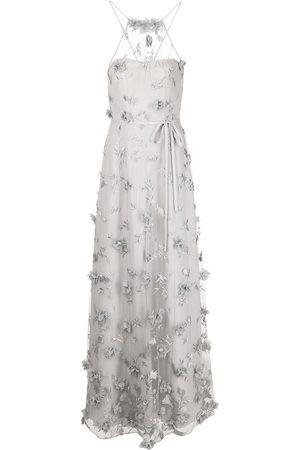 Marchesa Notte Damen Kleider - Neckholder-Abendkleid mit Stickerei