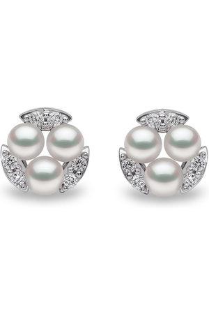 Yoko London 18kt Sleek Weißgoldohrstecker mit Diamanten und Akoya-Perlen