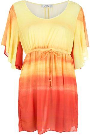 AMIR SLAMA Kleid mit Farbverlauf-Streifen