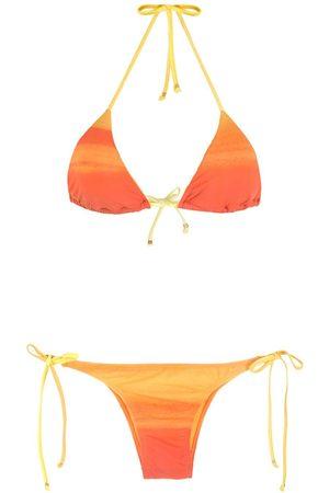 Amir Slama Gestreifter Bikini mit Ombré-Effekt
