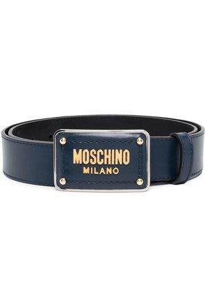 Moschino Gürtel mit Emaille-Schnalle