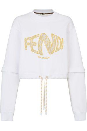 Fendi Cropped-Sweatshirt mit Logo-Print