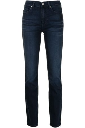 7 for all Mankind Taillenhohe Slim-Fit-Jeans