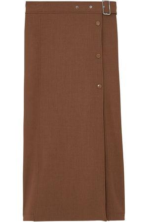 Burberry Belted mid-length skirt