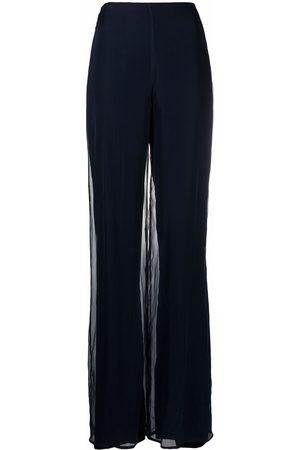 Gianfranco Ferré Damen Hosen & Jeans - 1990s Taillenhose mit weitem Bein