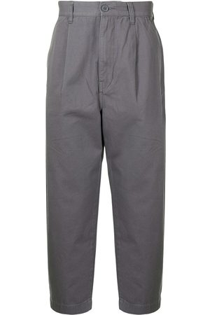 Izzue High-waisted tapered trousers
