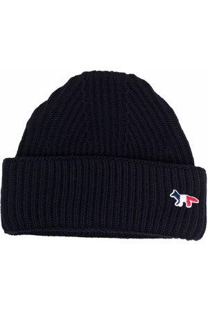 Maison Kitsuné Hüte - Gerippte Strickmütze