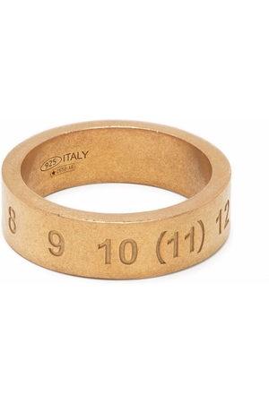 Maison Margiela Ring mit eingravierten Nummern - 950