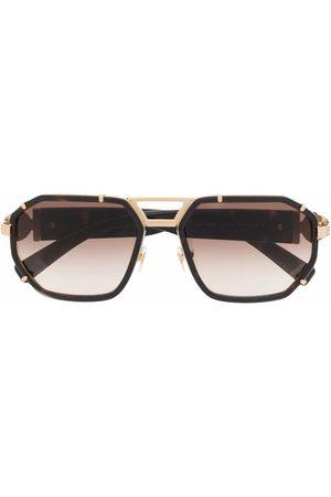 VERSACE Runde Sonnenbrille mit Farbverlauf - Nude
