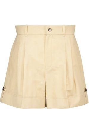 Chloé Damen Shorts - Shorts aus Baumwolle und Leinen