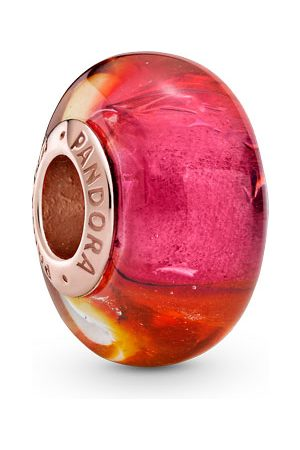 PANDORA Armbänder - Charm - Glittering Sunset Murano Glass - 789440C00