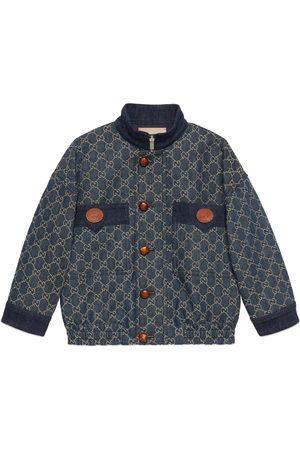 Gucci Jungen Jeansjacken - Kinderjacke aus GG Jacquard-Denim