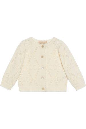 Gucci Baby Strickjacken - Baby-Cardigan aus Wolle mit GG Muster