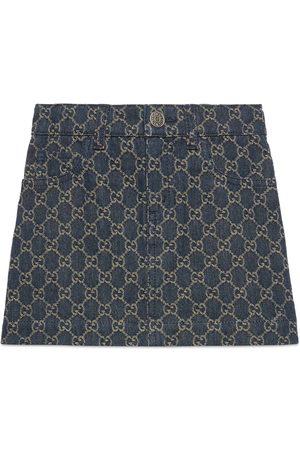 Gucci Mädchen Jeansröcke - Kinderrock aus GG Jacquard-Denim