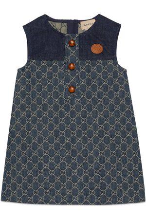 Gucci Mädchen Kleider - Kinderkleid aus GG Jacquard-Denim