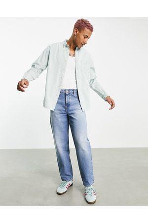 ASOS – Hemdjacke aus Jeansstoff in verwaschenem