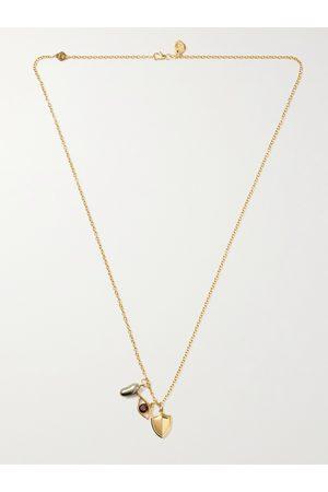 M. COHEN Herren Halsketten - Charmit 18-Karat Multi-Stone Pendant Necklace