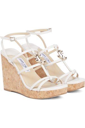 Jimmy Choo Damen Sandalen - Wedge-Sandalen JC 110 aus Leder
