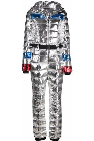 Perfect Moment Damen Jumpsuits - Cortina metallic puffer jumpsuit
