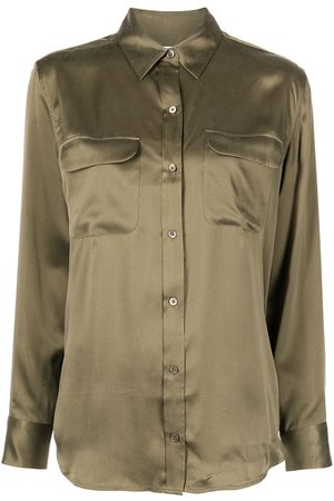 Equipment Signature silk long-sleeve shirt