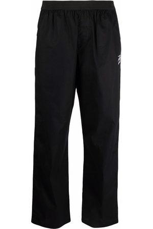 Karl Lagerfeld Embroidered autograph pyjama bottoms - 999 BLACK