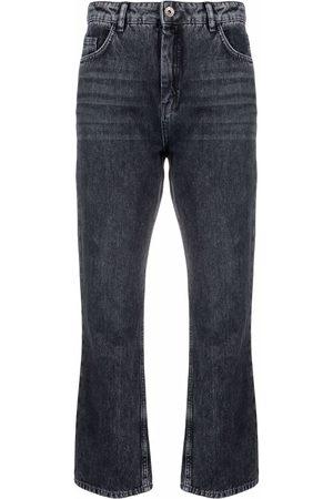 Patrizia Pepe Hoch geschnittene Cropped-Jeans