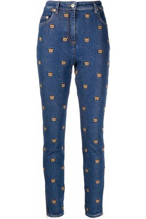 Moschino Bestickte Skinny-Jeans