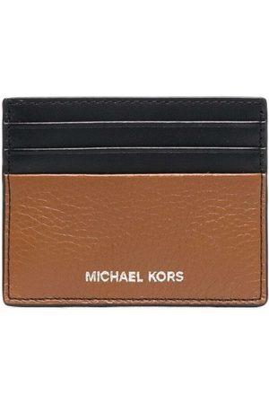Michael Kors Engraved-logo cardholder