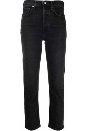 AGOLDE High-waisted straight-leg jeans