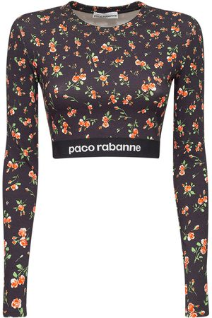 Paco rabanne Oberteil Aus Stretch-jersey Mit Logo
