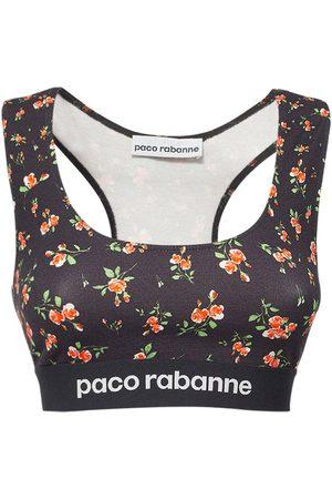 Paco rabanne Top Aus Stretch-jersey Mit Logo