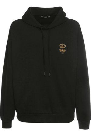 Dolce & Gabbana Baumwoll-hoodie Mit Bienen- Und Kronenstickerei