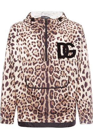 Dolce & Gabbana Kapuzenjacke Aus Nylon Mit Leodruck