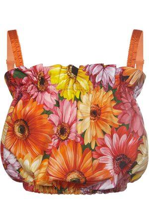 Dolce & Gabbana Damen Oberbekleidung - Bedrucktes Top Aus Baumwollpopeline