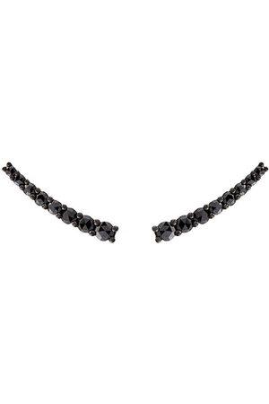 ALINKA Damen Ohrringe - 18kt 'Dasha' Weißgoldohrringe mit schwarzen Diamanten - Metallisch
