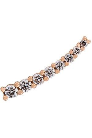 ALINKA Damen Ohrringe - 18kt Kleiner 'Dasha' Rotgoldohrring mit Diamanten - Metallisch