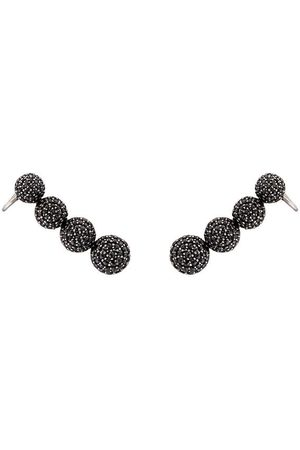 ALINKA Damen Ohrringe - 18kt 'Marina' Weißgold-Ear Cuffs mit Diamanten - Metallisch
