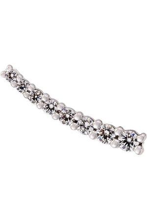 ALINKA Damen Ringe - 18kt 'Dasha' Weißgoldohrring mit Diamanten - Metallisch