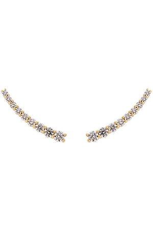 Alinka Damen Ohrringe - Große Dasha Ohrringe mit Diamanten - Metallisch