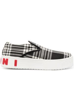 Marni Herren Sneakers - Karierte Slip-On-Sneakers