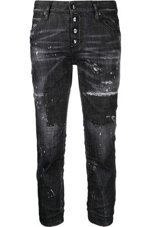 Dsquared2 Damen Straight - Gerade Distressed-Jeans