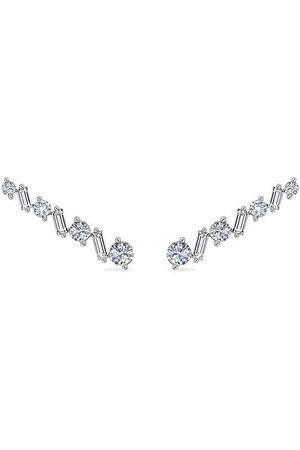 Alinka Damen Ohrringe - 18kt Ear Cuff aus Weißgold mit Diamanten