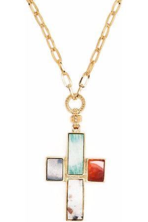 Gas Bijoux Halskette mit Kreuzanhänger