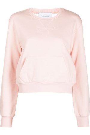 Marchesa Notte Damen Shirts - Sweatshirt mit semi-transparentem Rücken