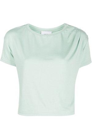 Marchesa Notte Cropped-T-Shirt mit rundem Ausschnitt