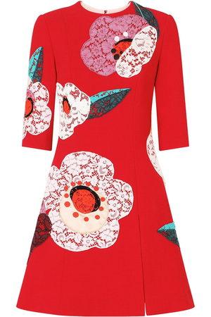 Dolce & Gabbana Ausgestelltes Kleid mit Blumen