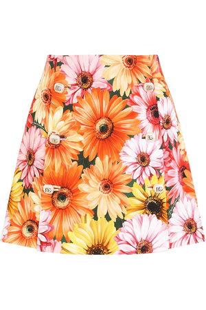 Dolce & Gabbana A-Linien-Rock mit Blumen-Print