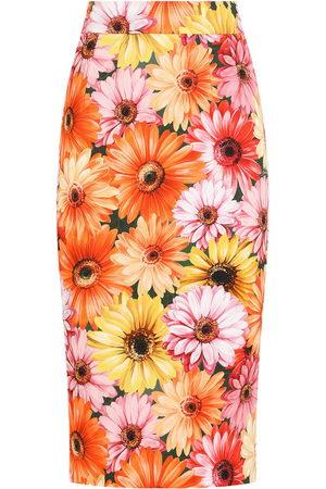 Dolce & Gabbana Bleistiftrock mit Sonnenblumen-Print
